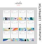 calendar 2019. printable...   Shutterstock .eps vector #1189964734