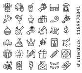 celebration icon set | Shutterstock .eps vector #1189970341