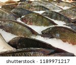 fish at the market. traditional ... | Shutterstock . vector #1189971217