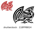 tribal eagle mascot in two... | Shutterstock . vector #118998814