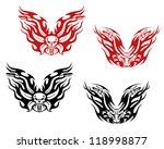 bikers and bikes tattoos in... | Shutterstock . vector #118998877