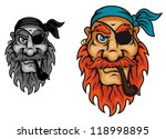 old pirate captain head for... | Shutterstock . vector #118998895
