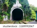 the entrance to the old railway ... | Shutterstock . vector #1189992067