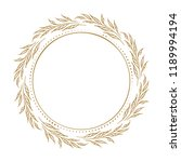 vector floral vintage frame on... | Shutterstock .eps vector #1189994194