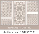 decorative panels set for laser ... | Shutterstock .eps vector #1189996141