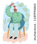 vector cartoon illustration of... | Shutterstock .eps vector #1189996864