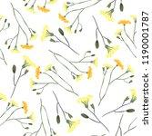 blossom floral seamless pattern.... | Shutterstock .eps vector #1190001787