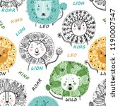 seamless pattern for kids with... | Shutterstock .eps vector #1190007547