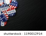 red  white  and blue vote... | Shutterstock . vector #1190012914
