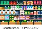 supermarket shelves with... | Shutterstock .eps vector #1190013517