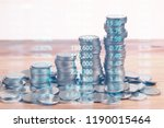 graph coins stock finance and... | Shutterstock . vector #1190015464