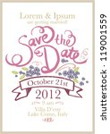 save the date invitation... | Shutterstock .eps vector #119001559