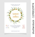 wedding invitation card... | Shutterstock .eps vector #1190015974