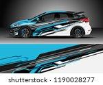 car decal wrap design vector.... | Shutterstock .eps vector #1190028277