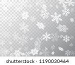 snow flakes falling macro...   Shutterstock .eps vector #1190030464