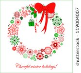 stylized christmas wreath from... | Shutterstock .eps vector #119004007