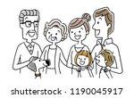 smiling family | Shutterstock .eps vector #1190045917