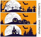 halloween silhouette...   Shutterstock .eps vector #1190048671