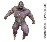 3d cg rendering of black man | Shutterstock . vector #1190048731