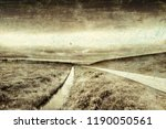 agriculture on land reclaimed... | Shutterstock . vector #1190050561
