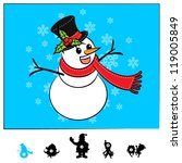 Characters Christmas : Snowman Comic Style - stock vector