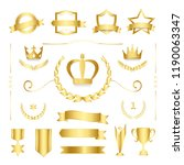 premium quality badge and... | Shutterstock .eps vector #1190063347