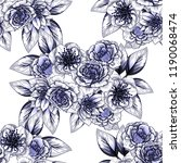 abstract elegance seamless... | Shutterstock . vector #1190068474