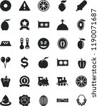 solid black flat icon set... | Shutterstock .eps vector #1190071687