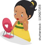 illustration of a girl with... | Shutterstock .eps vector #119007355