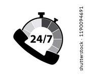 24 7 call center support vector ...   Shutterstock .eps vector #1190094691