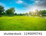 urban park grassland forest   | Shutterstock . vector #1190095741