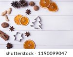 christmas decorations  nuts ... | Shutterstock . vector #1190099047