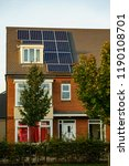 english house with solar panels ... | Shutterstock . vector #1190108701