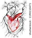 hand drawn illustration of...   Shutterstock . vector #1190110471