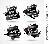 set of sale banner template... | Shutterstock .eps vector #1190112754