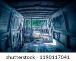 desolated grey van from inside...