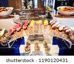 delicious reception candy bar... | Shutterstock . vector #1190120431