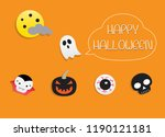 happy halloween night and... | Shutterstock .eps vector #1190121181
