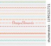 divider line design elements... | Shutterstock .eps vector #1190121721