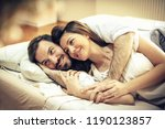 beautiful love. happy young... | Shutterstock . vector #1190123857