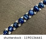 blue sapphire bracelet with... | Shutterstock . vector #1190136661