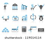 business and finance icons set | Shutterstock .eps vector #119014114