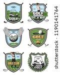 golf sport club heraldic icons. ...   Shutterstock .eps vector #1190141764