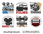 cinema and movie  films icons... | Shutterstock .eps vector #1190141851