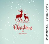 new year and christmas banner ... | Shutterstock .eps vector #1190143441