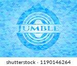 jumble realistic light blue...   Shutterstock .eps vector #1190146264
