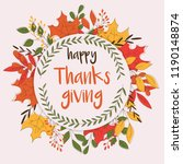 happy thanksgiving day card... | Shutterstock .eps vector #1190148874