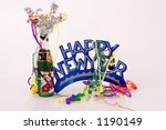 happy new year  holiday  sign ... | Shutterstock . vector #1190149