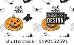 halloween seamless pattern....   Shutterstock .eps vector #1190152591