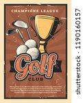 golf club retro poster  sport...   Shutterstock .eps vector #1190160157